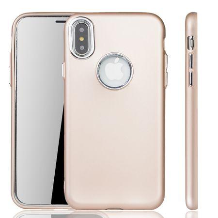 Apple iPhone X / XS Hülle - Handyhülle für Apple iPhone X / XS - Handy Case in Gold – Bild 1
