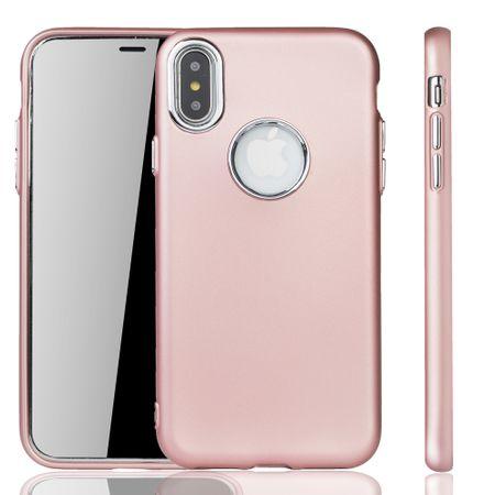 Apple iPhone X / XS Hülle - Handyhülle für Apple iPhone X / XS - Handy Case in Rose Pink – Bild 1