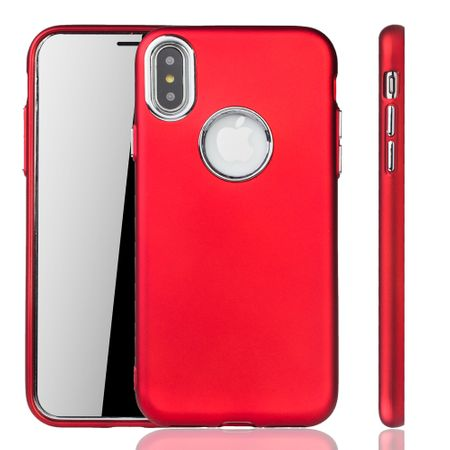 Apple iPhone X / XS Hülle - Handyhülle für Apple iPhone X / XS - Handy Case in Rot – Bild 1