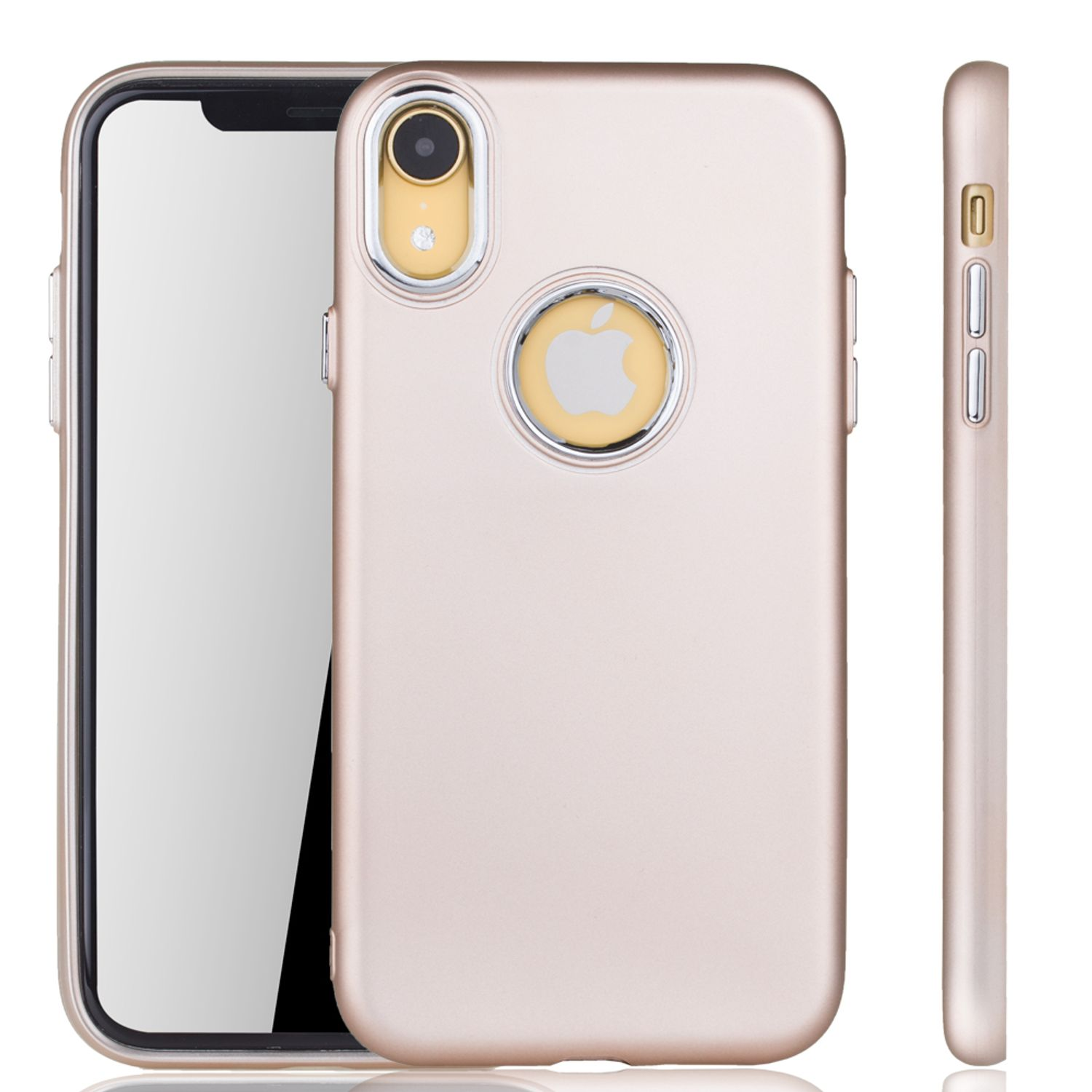 apple iphone xr h lle handyh lle f r apple iphone xr handy case in gold