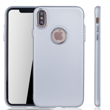 Apple iPhone XS Max Hülle - Handyhülle für Apple iPhone XS Max - Handy Case in Silber