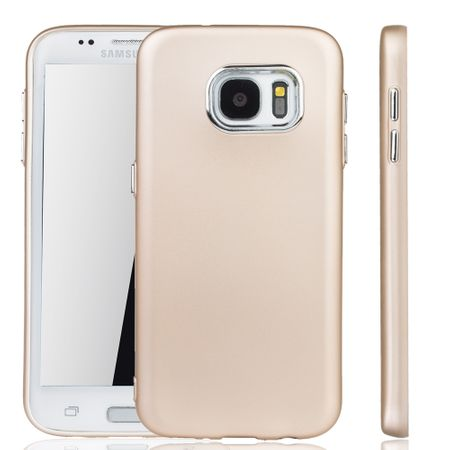 Samsung Galaxy S7 Edge Hülle - Handyhülle für Samsung Galaxy S7 Edge - Handy Case in Gold