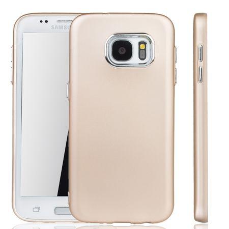 Samsung Galaxy S7 Edge Hülle - Handyhülle für Samsung Galaxy S7 Edge - Handy Case in Gold
