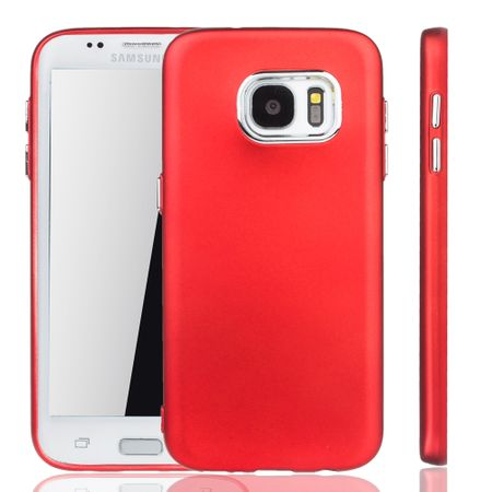Samsung Galaxy S7 Edge Hülle - Handyhülle für Samsung Galaxy S7 Edge - Handy Case in Rot