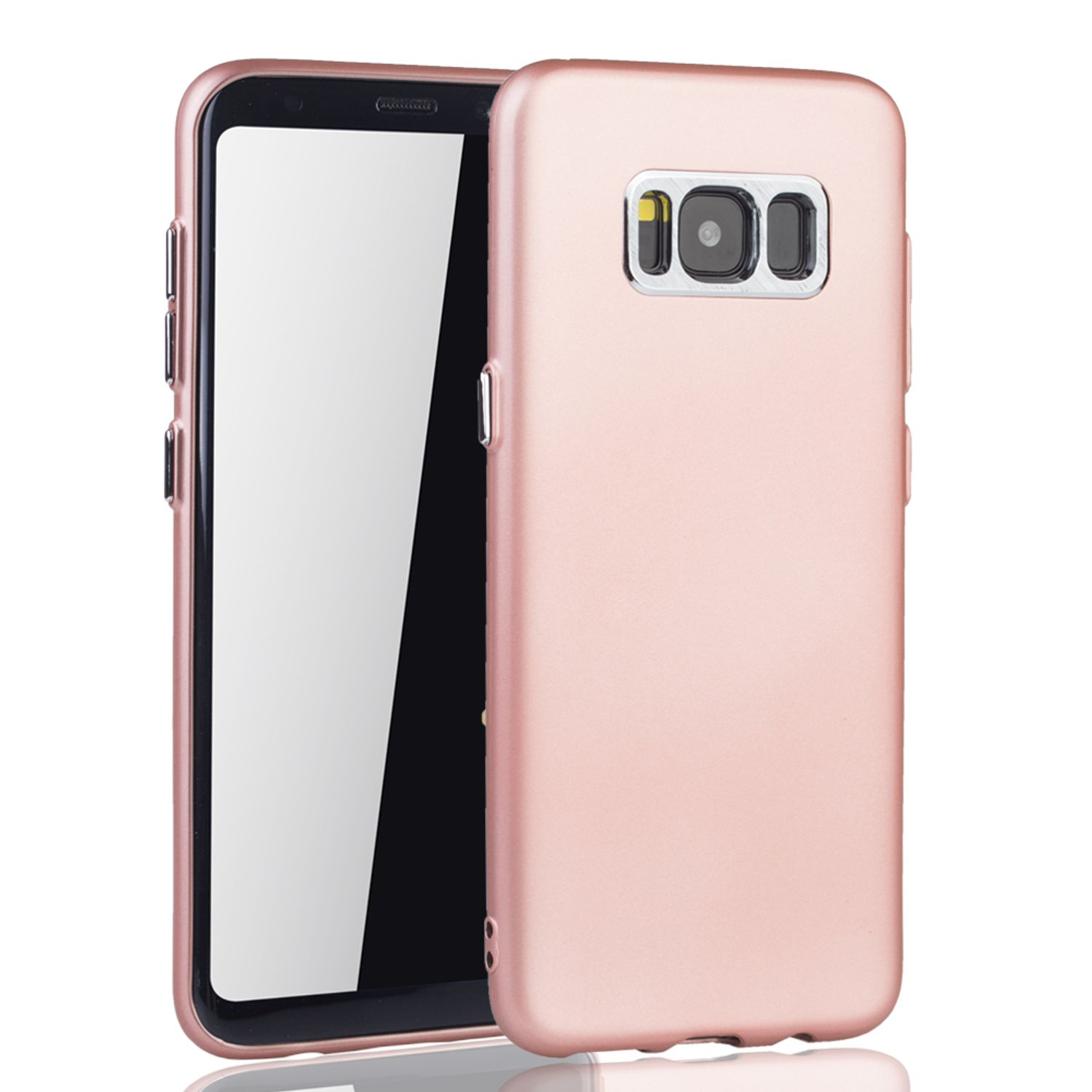 samsung galaxy s8 plus h lle handyh lle f r samsung galaxy s8 plus handy case in rose pink. Black Bedroom Furniture Sets. Home Design Ideas