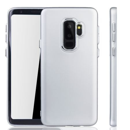 Samsung Galaxy S9 Plus Hülle - Handyhülle für Samsung Galaxy S9 Plus - Handy Case in Silber