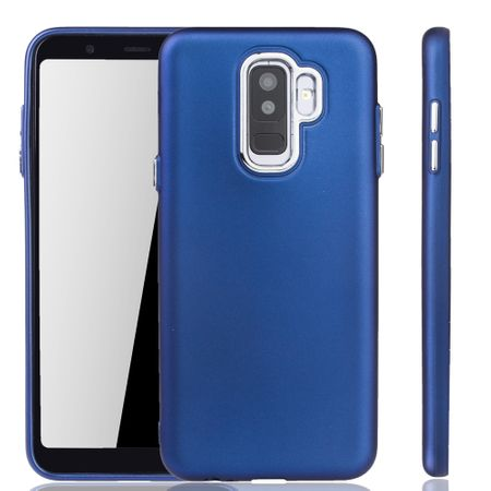 Samsung Galaxy A6 Plus Hülle - Handyhülle für Samsung Galaxy A6 Plus - Handy Case in Dunkelblau