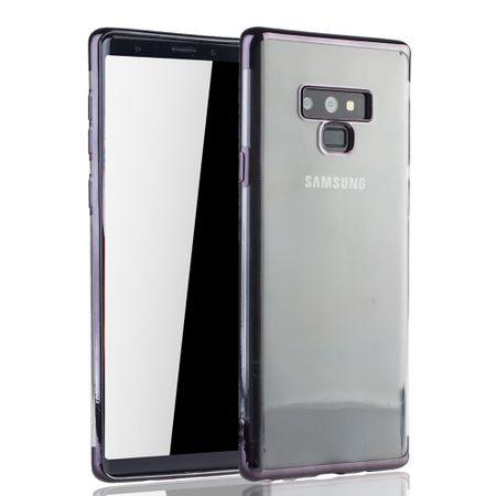 Handyhülle für Samsung Galaxy Note 9 Schwarz - Clear - TPU Silikon Case Backcover Schutzhülle in Transparent / glänzender Rand Schwarz – Bild 2