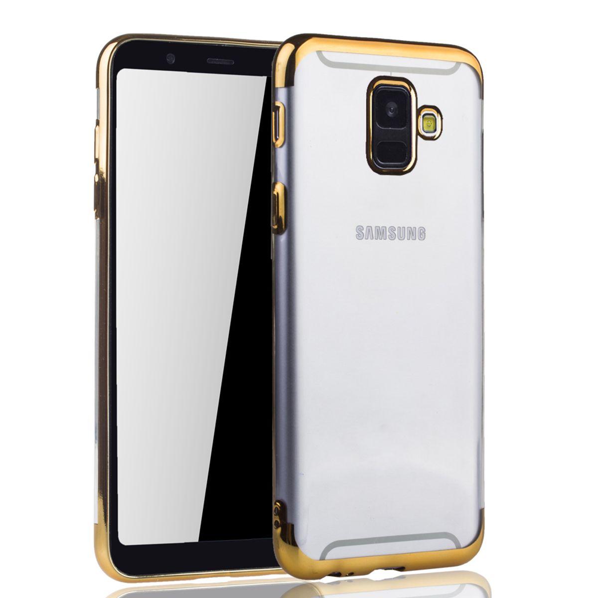 Handyhülle Samsung Galaxy : handyh lle f r samsung galaxy a6 2018 gold clear tpu silikon case backcover schutzh lle in ~ Aude.kayakingforconservation.com Haus und Dekorationen
