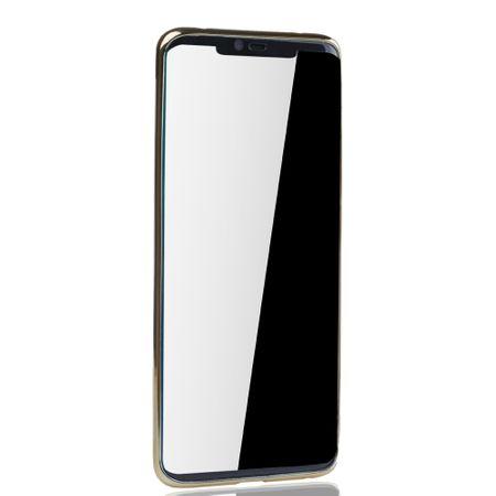 Handyhülle für Huawei Mate 20 Pro Gold - Clear - TPU Silikon Case Backcover Schutzhülle in Transparent / glänzender Rand Gold – Bild 3