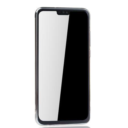 Handyhülle für Huawei Honor 8X Silber - Clear - TPU Silikon Case Backcover Schutzhülle in Transparent / glänzender Rand Silber – Bild 3