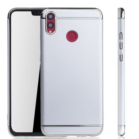 Huawei Honor 8X Handy Hülle Schutz Case Bumper Hard Cover Silber