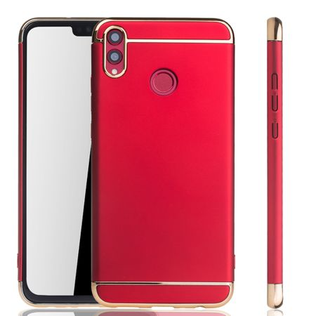 Huawei Honor 8X Handy Hülle Schutz Case Bumper Hard Cover Rot