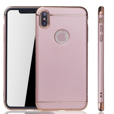Apple iPhone XS Max Handy Hülle Schutz Case Bumper Hard Cover Pink