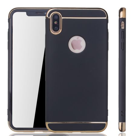 Apple iPhone XS Max Handy Hülle Schutz Case Bumper Hard Cover Schwarz