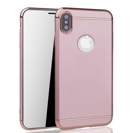Apple iPhone XS Handy Hülle Schutz Case Bumper Hard Cover Pink – Bild 2