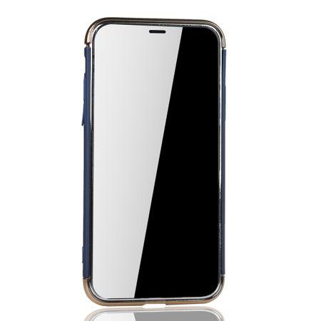 Apple iPhone XS Handy Hülle Schutz Case Bumper Hard Cover Blau – Bild 3