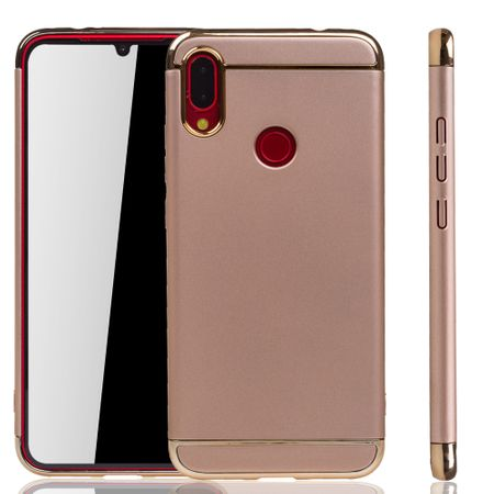 Xiaomi Redmi Note 7 / 7 Pro Handy Hülle Schutz Case Bumper Hard Cover Gold
