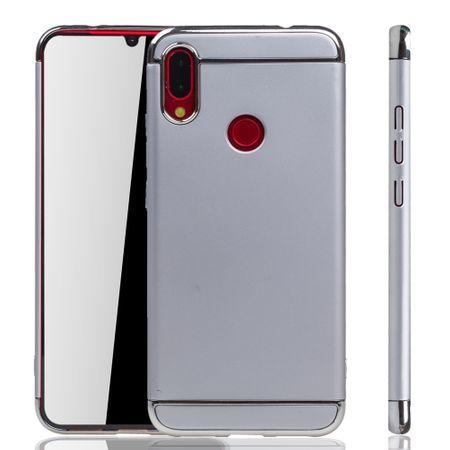 Xiaomi Redmi Note 7 / 7 Pro Handy Hülle Schutz Case Bumper Hard Cover Silber