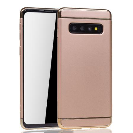 Samsung Galaxy S10 Handy Hülle Schutz Case Bumper Hard Cover Gold – Bild 2