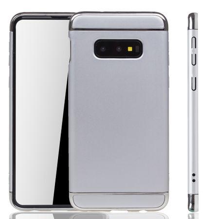 Samsung Galaxy S10e Handy Hülle Schutz Case Bumper Hard Cover Silber