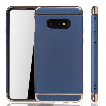 Samsung Galaxy S10e Handy Hülle Schutz Case Bumper Hard Cover Blau