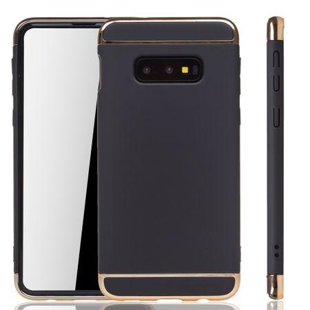 Samsung Galaxy S10e Handy Hülle Schutz Case Bumper Hard Cover Schwarz