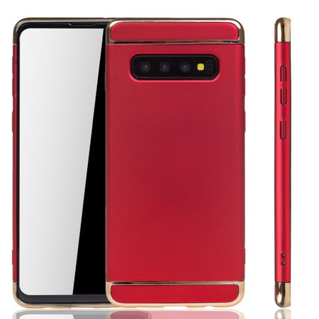 Samsung Galaxy S10 Plus Handy Hülle Schutz Case Bumper Hard Cover Rot