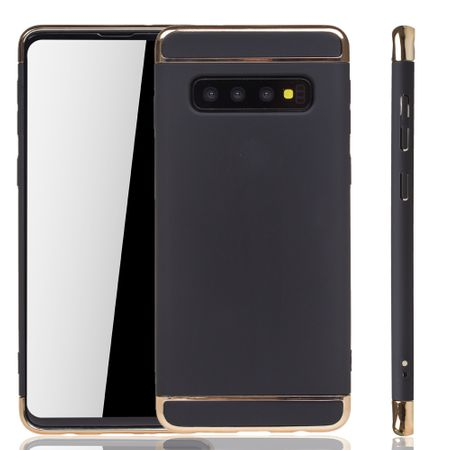 Samsung Galaxy S10 Plus Handy Hülle Schutz Case Bumper Hard Cover Schwarz