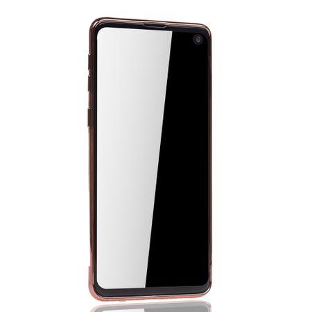 Handyhülle für Samsung Galaxy S10 Plus Rose Pink - Clear - TPU Silikon Case Backcover Schutzhülle in Transparent / glänzender Rand Rose Pink – Bild 3