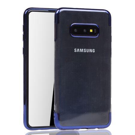 Handyhülle für Samsung Galaxy S10e Blau - Clear - TPU Silikon Case Backcover Schutzhülle in Transparent / glänzender Rand Blau – Bild 2
