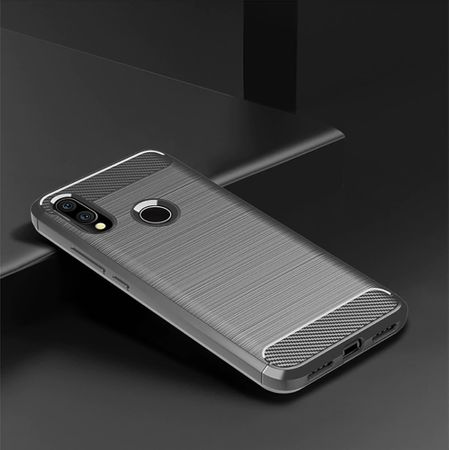 Xiaomi Redmi 7 TPU Case Carbon Fiber Optik Brushed Schutz Hülle Grau – Bild 2