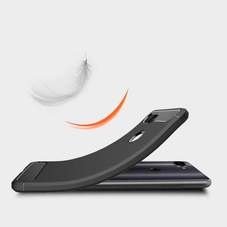 Xiaomi Mi 8 Lite TPU Case Carbon Fiber Optik Brushed Schutz Hülle Blau – Bild 6