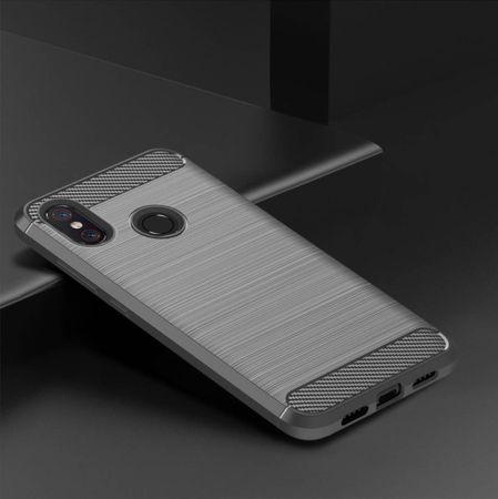 Xiaomi Mi 8 TPU Case Carbon Fiber Optik Brushed Schutz Hülle Grau – Bild 2