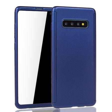 Samsung Galaxy S10 Handy-Hülle Schutz-Case Full-Cover Panzer Schutz Folie Blau – Bild 2