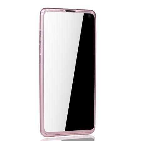 Samsung Galaxy S10 Handy-Hülle Schutz-Case Full-Cover Panzer Schutz Folie Rose – Bild 3