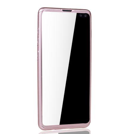 Samsung Galaxy S10 Plus Handy-Hülle Schutz-Case Full-Cover Panzer Schutz Folie Rose – Bild 3