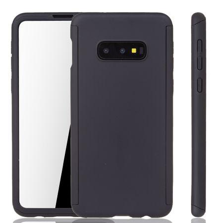 Samsung Galaxy S10e Handy-Hülle Schutz-Case Full-Cover Panzer Schutz Folie Schwarz – Bild 1
