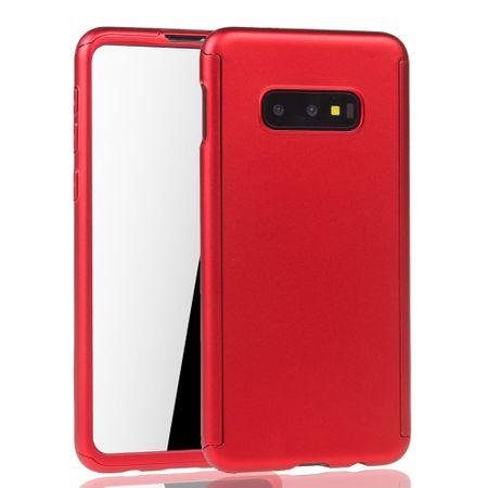 Samsung Galaxy S10e Handy-Hülle Schutz-Case Full-Cover Panzer Schutz Folie Rot – Bild 2
