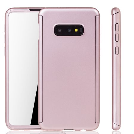 Samsung Galaxy S10e Handy-Hülle Schutz-Case Full-Cover Panzer Schutz Folie Rose