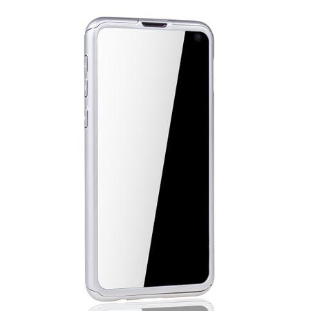 Samsung Galaxy S10e Handy-Hülle Schutz-Case Full-Cover Panzer Schutz Folie Silber – Bild 3