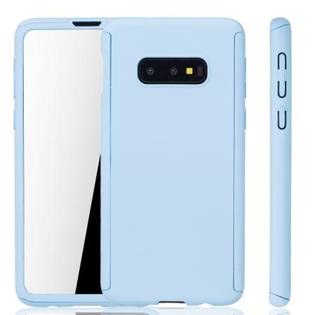 Samsung Galaxy S10e Handy-Hülle Schutz-Case Full-Cover Panzer Schutz Folie Hellblau