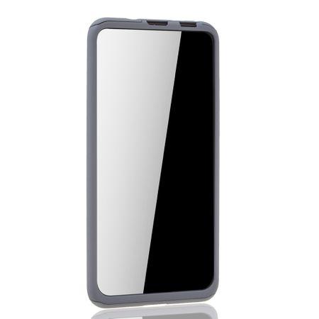 Huawei Honor View 20 Handy-Hülle Schutz-Case Full-Cover Panzer Schutz Glas Grau – Bild 3