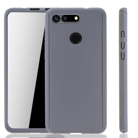 Huawei Honor View 20 Handy-Hülle Schutz-Case Full-Cover Panzer Schutz Glas Grau – Bild 1