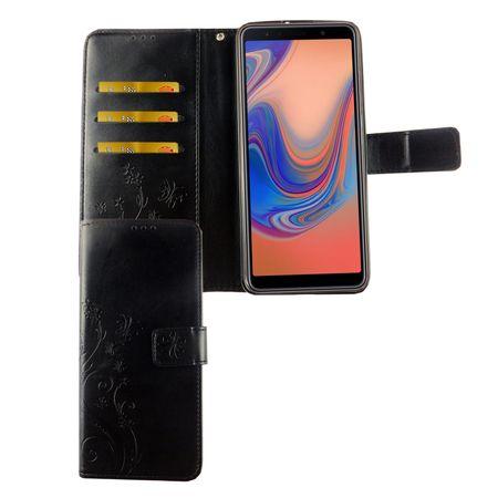 Huawei P30 Lite Handy-Hülle Schutz-Tasche Cover Flip-Case Kartenfach Schwarz