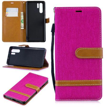 Huawei P30 Pro Handy-Hülle Schutz-Tasche Case Cover Kartenfach Etui Wallet Pink