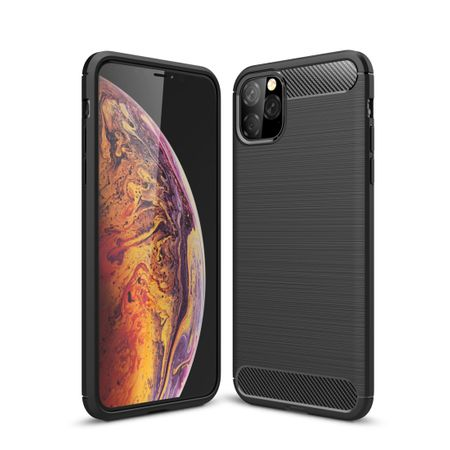Apple iPhone 11 Pro TPU Case Carbon Fiber Optik Brushed Schutz Hülle Schwarz