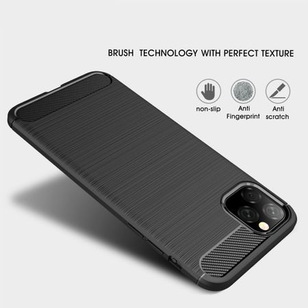 Apple iPhone 11 TPU Case Carbon Fiber Optik Brushed Schutz Hülle Schwarz – Bild 2