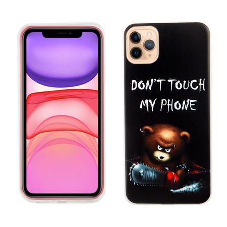 Apple iPhone 11 Pro Handy-Hülle Schutz-Case Cover Bumper Dont Touch My Phone Bär