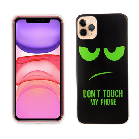 Apple iPhone 11 Handy-Hülle Schutz-Case Cover Bumper Dont Touch My Phone Grün